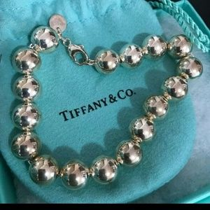 Tiffany &Co 10mm 925 Silver Bead Bracelet